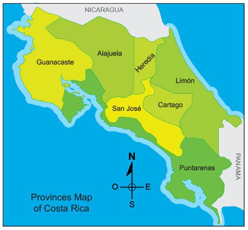 San José, Costa Rica::.. MAPA DE COSTA RICA